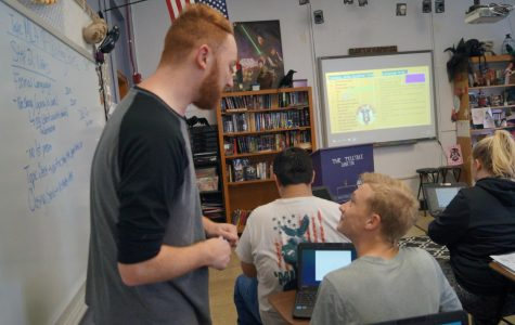 Mr. Gardner Enters Classroom
