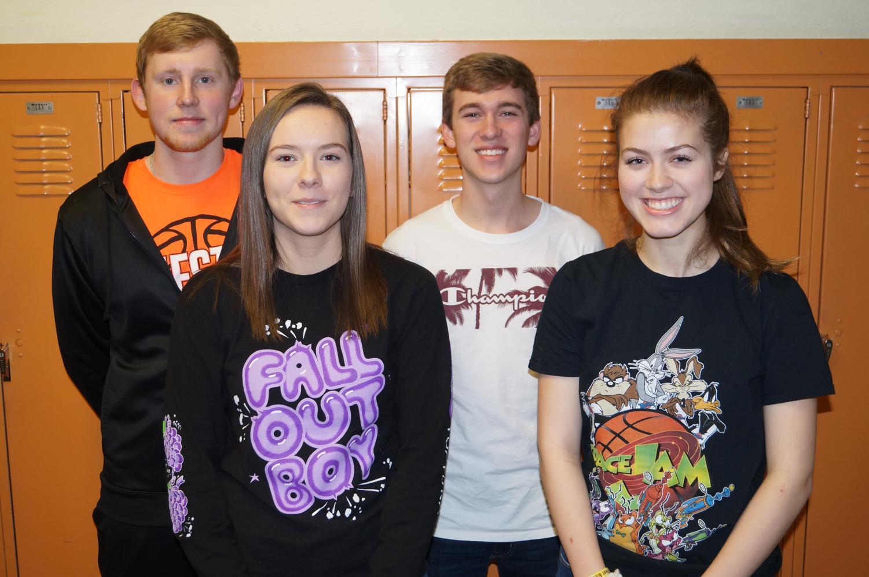 2018 Illinois State Scholars are Jakob Cushman, Emma Draves, Jacob Wingerter and Elizabeth Soellner.