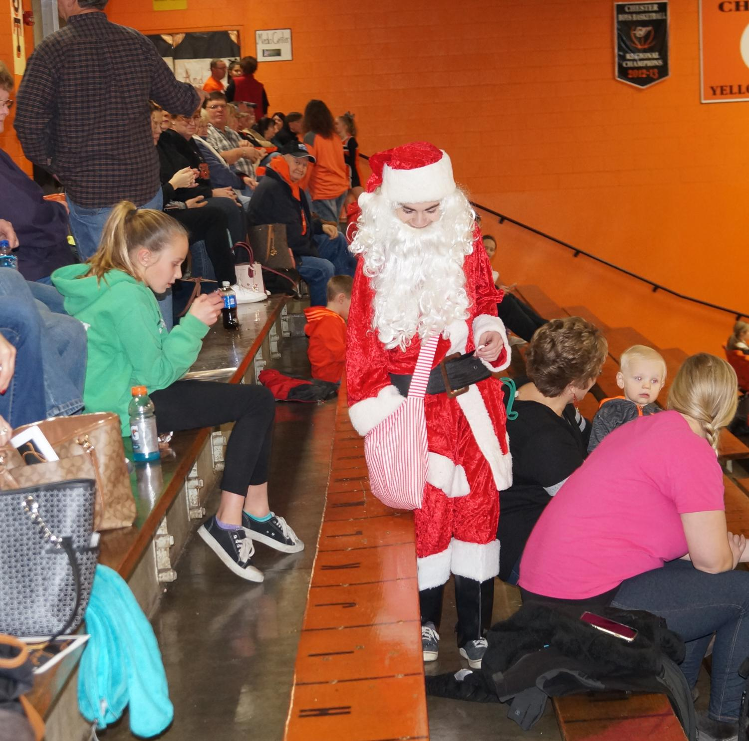 Santa made an appearance at Chester's win over Zeigler.