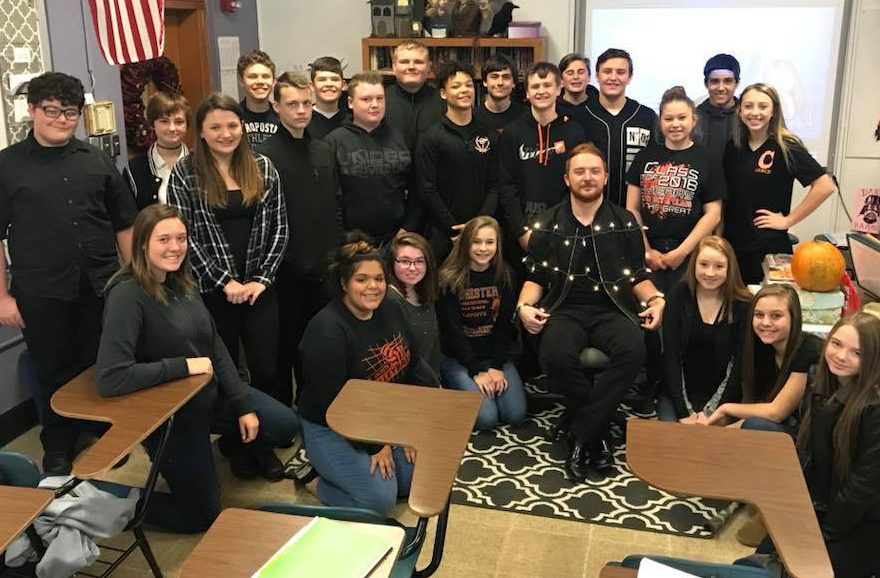 Students wore black in honor of Mr. Gardners last day at CHS.
