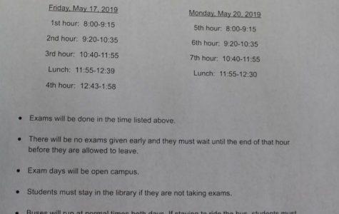 Semester Exams May 17 & 20