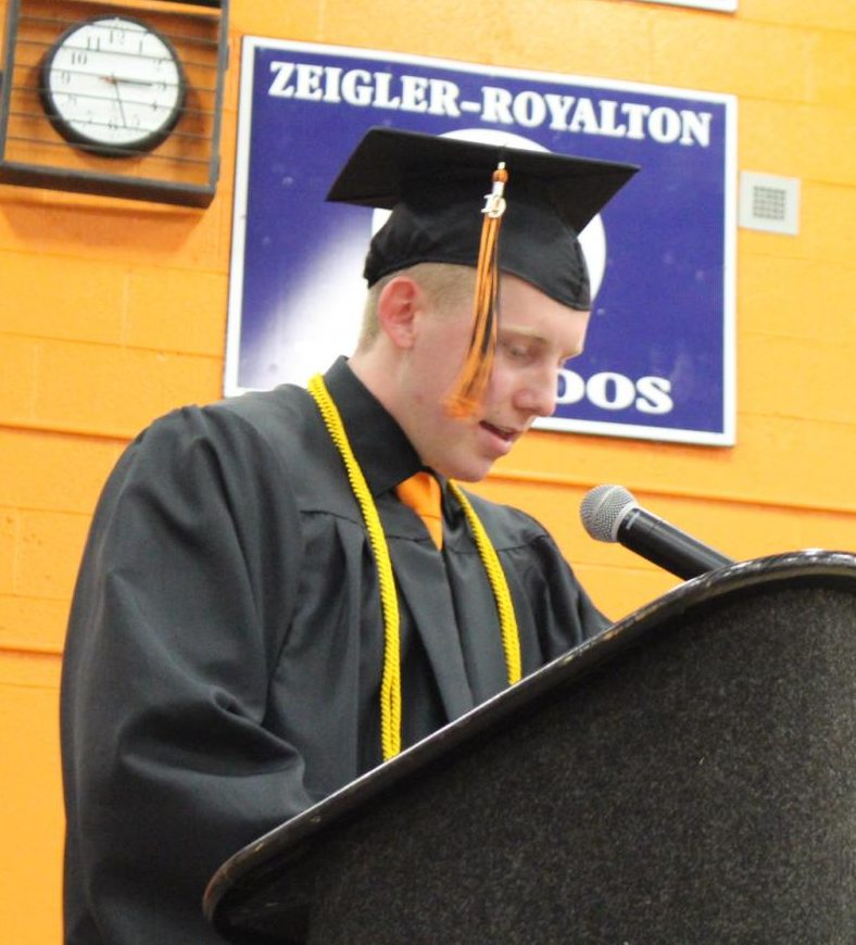Valedictorian Jakob Cushman