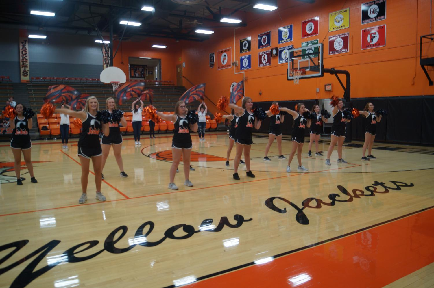 The Chester High School Dance Team performed during the pep rally Aug. 30.