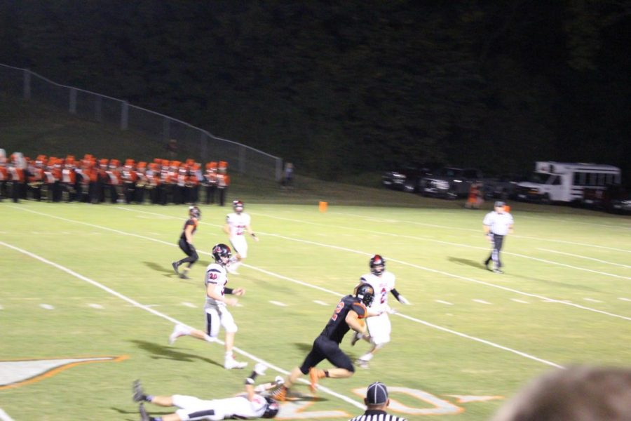 Ian Reith breaks a tackle after making a reception against Fairfield.
