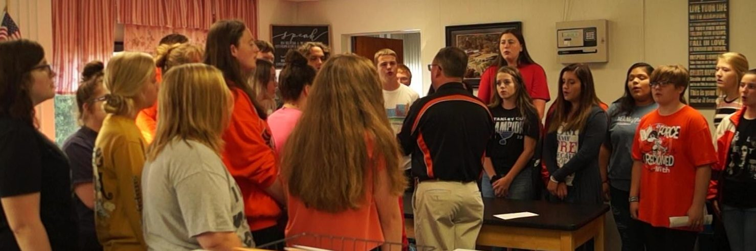 The CHS Swing Choir performs The National Anthem as a memorial to the victims of the 9-11 terrorist attack.