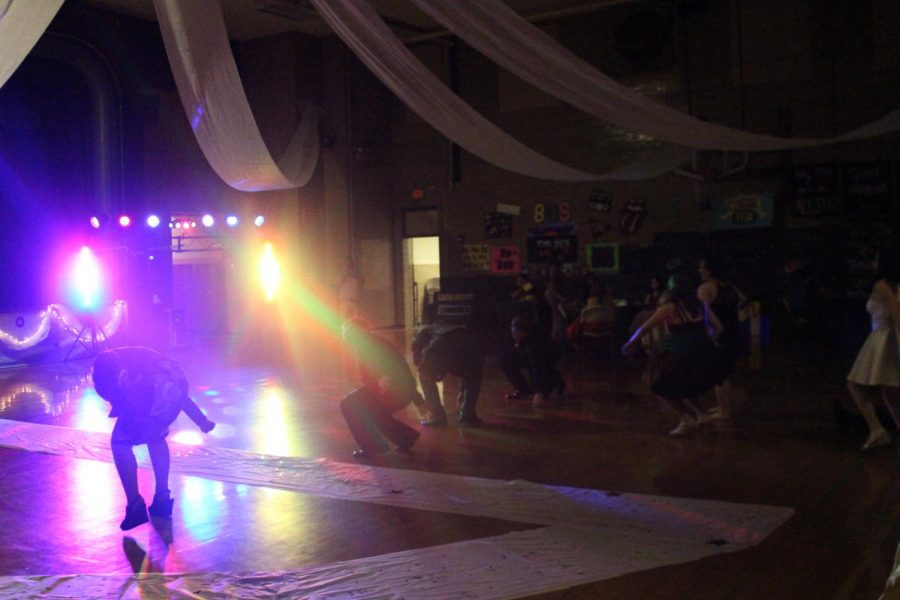 Dancers enjoy the music at the Homecoming dance.