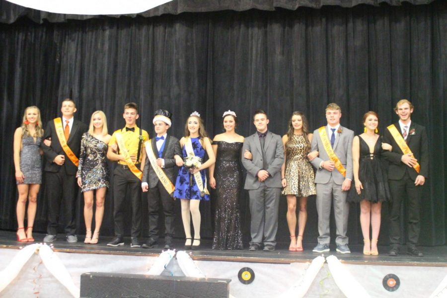The Homecoming Court is pictured at the dance.