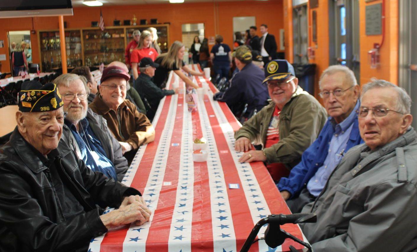The Fellowship of Christian Athletes sponsored a breakfast for veterans Nov. 8.