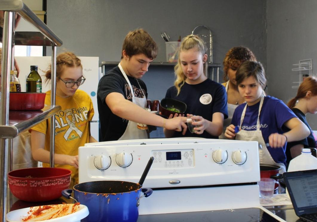 Foods I and Culinary Arts prepared the annual Thanksgiving Etiquette dinner Nov. 27.