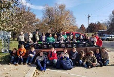 Local Scouts Hold Food Drive