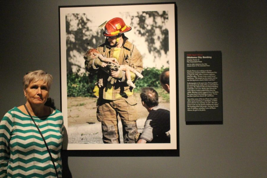Mrs. Grau was stationed near Oklahoma City at the time of the terrorist bombing that led to this prize-winning picture.