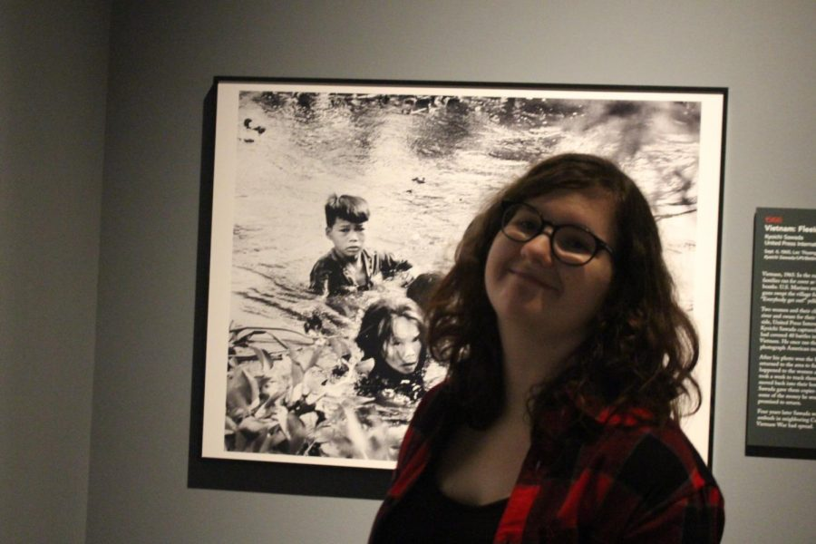 Editor Jaci South is pictured at a prize-winning photo taken during the Vietnam War.