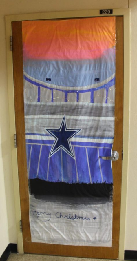 Mr. Cowans door does not display the Star of Bethlehem.