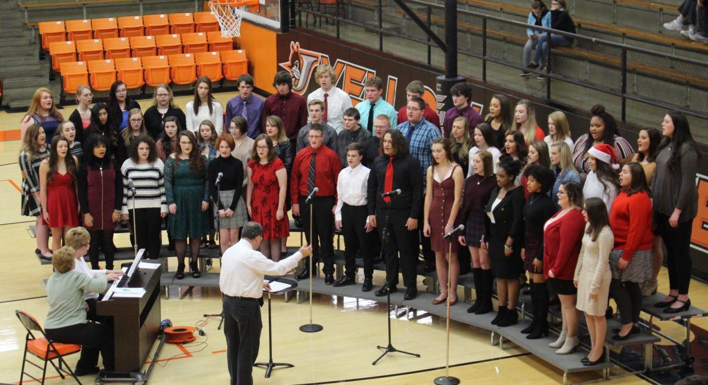 The Chester High School Concert Choir performs