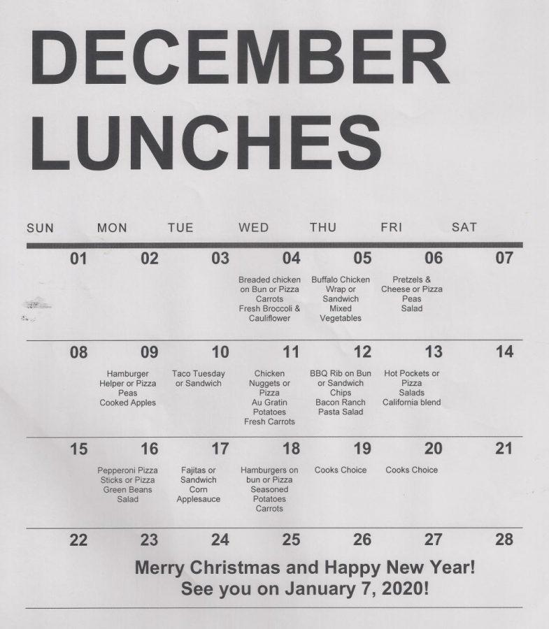 December Menus