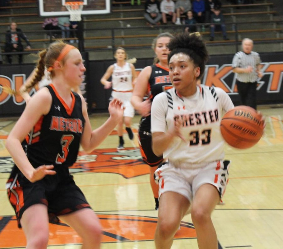 Destiny Williams scored 27 points in the win over Marissa-Coulterville.