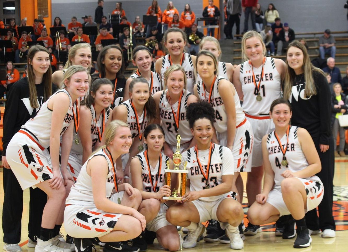 The Chester Lady Yellow Jackets won the Lady Jackets Mid-Winter Classic.
