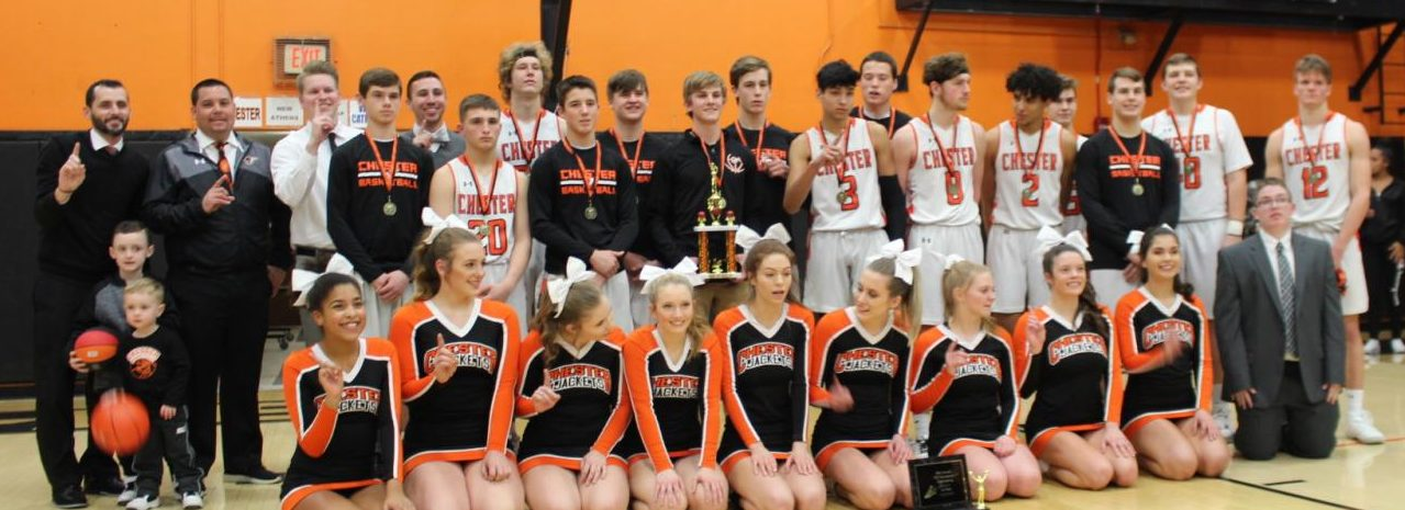 The Chester Yellowjackets won the Chester Invitational Tournament with a double-overtime win over Waterloo. Chester also won the cheerleading award.
