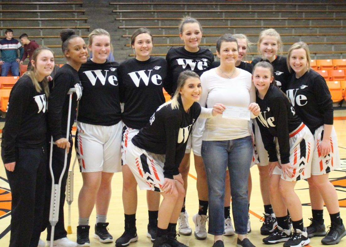 The Chester High School volleyball team conducted a fund-raiser for Jennifer King.