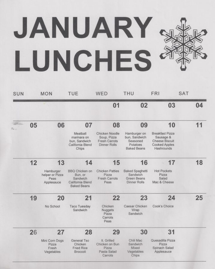 January Menus