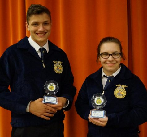 Blake Huffman and Deborah Wills won honors at the FFA Section 22 Public Speaking Contest.