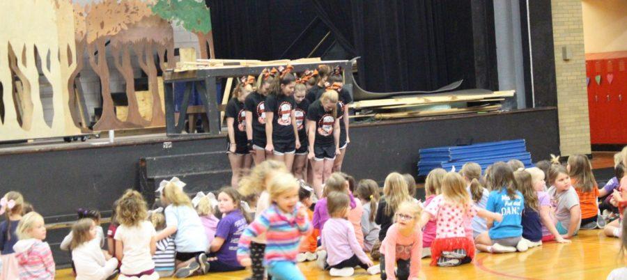 The Chester High School cheerleaders held cheerleading camp this week.