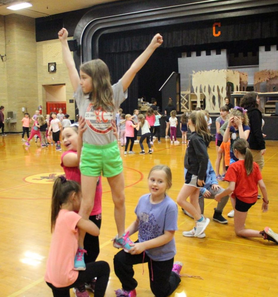 Campers at the CHS cheerleading camp will perform at halftime of Saturdays Trico-Chester basketball game on Saturday.