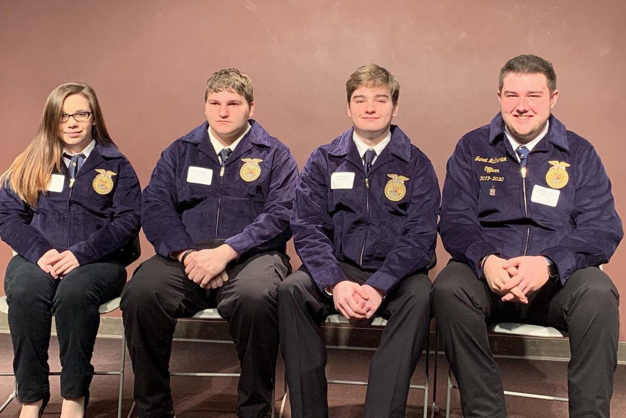 Deborah Wills, Nick James, John Hobeck and Jared McCormick attended Farm Bureau Acquaintance Day at SIU Carbondale.