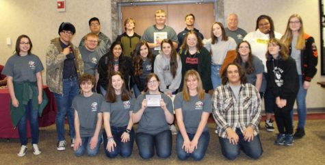 The Chester High School Sting won the Blue Banner Award from the Southern Illinois School Press Association.