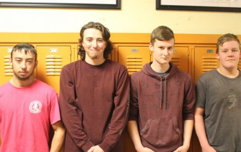 Qualifying for state in the SkillsUSA competition are Christian Wright, Michael Hubert, Dominic Neal and Matthew Murray.