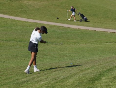 Maleia Absher hits a chip shot against Zeigler-Royalton.