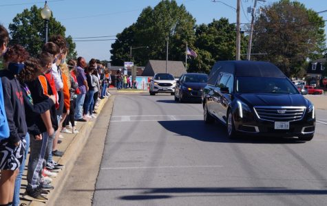 Chester students lined Swanwick Street to pay their respects to Brian