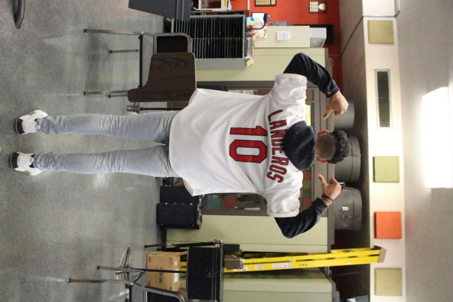 Jared Landeros wore his personal Cardinals jersey.