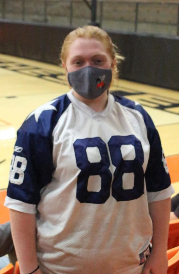 Emma Bryant wore a Cowboys jersey Monday. Mr. Cowan would be proud.