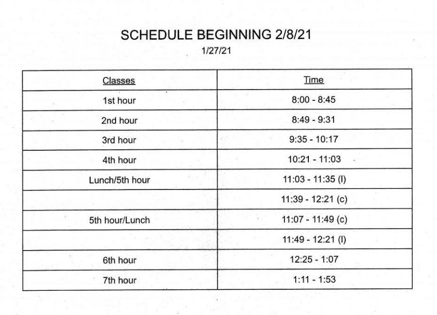 Schedule Expanding Feb. 8