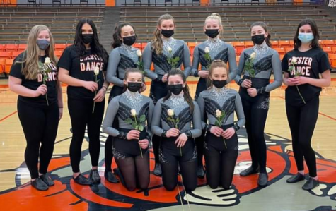 Back Row: Grace Welborn (Freshman), Daphney Helmers (Freshmen), Maria Nickle (Junior), Paige Vasquez (Sophomore), Kylie Fortner (Junior), Kaylie Springston (Freshman), Hailey Clendenin (Freshman) Front Row: Alison Venus (Senior), Juliette Abernathy (Senior), Taylor Cartwright (Senior)