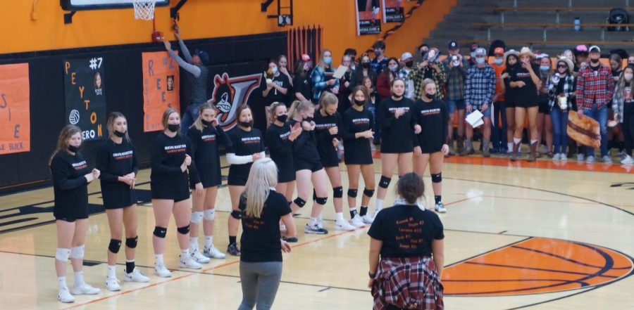 The Black Diamond Conference champion Chester Lady Yellow Jackets were recognized prior to their win over Trico on April 22.