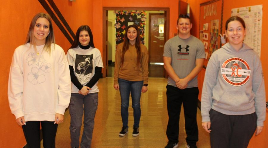 Illinois State Scholars at Chester High School are Kennedy Herrell, Kailey Hall, Alison Venus, Daigen Hunter and Melody Colonel.