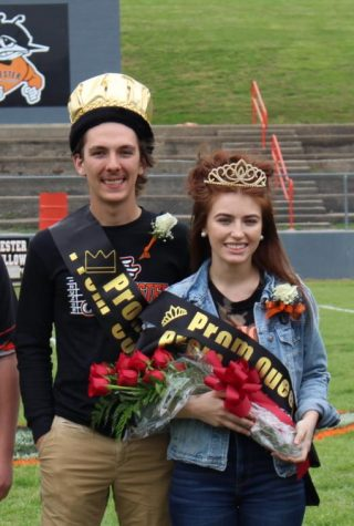Gage Garniss was crowned king and Amelia Shemonic queen for the Chester High School spring formal, an event held to combine homecoming and prom.