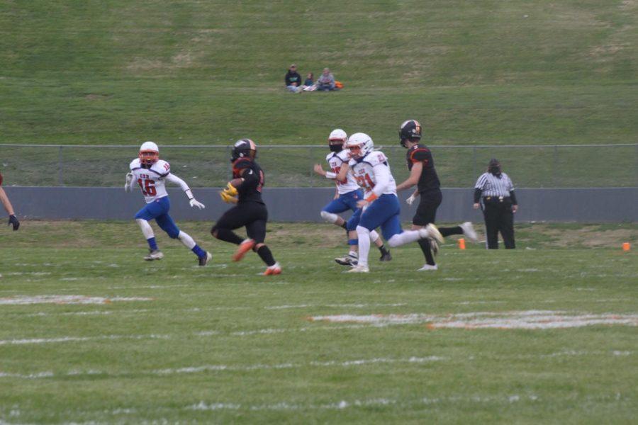 Jordan Merideth scored three touchdowns in Chester's win over Christopher.