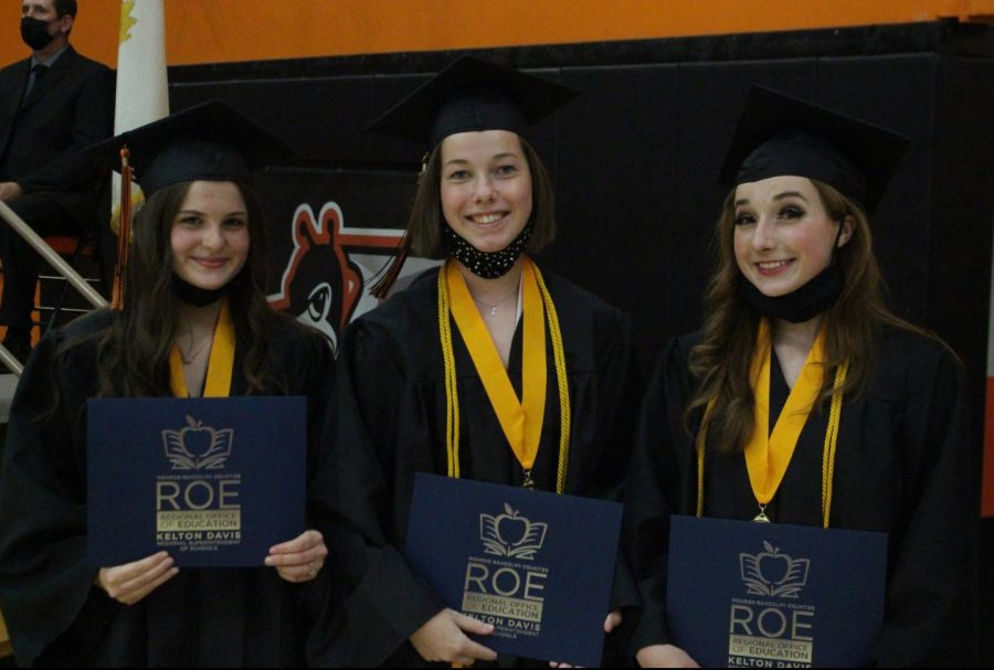 Valedictorians+for+the+Chester+High+school+Class+of+2021+were+Kailey+Hall%2C+Melody+Colonel+and+Alison+Venus.