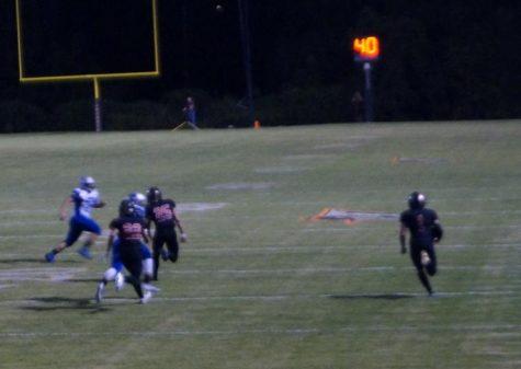 Jordan Merideth scored two touchdowns against Freeburg.
