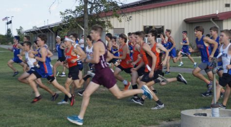 Jacob Handel and Blake Farmer (orange shirts on the right) were Chesters top two finishers at the meet Sept. 14 at the World Shooting & Recreational Complex. Handel and Farmer both finished in the top 20.