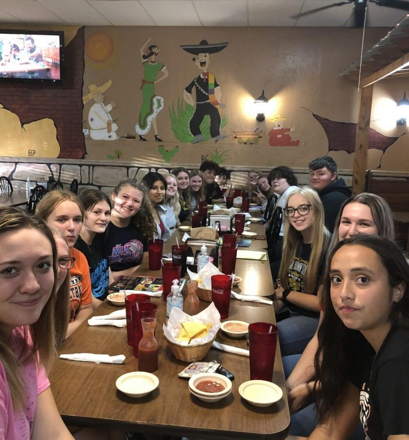 The Spanish Club ate at Tequilas restaurant Sept. 14.